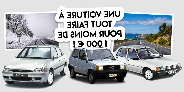 Quelle voiture utiliser pour 1000 euros?