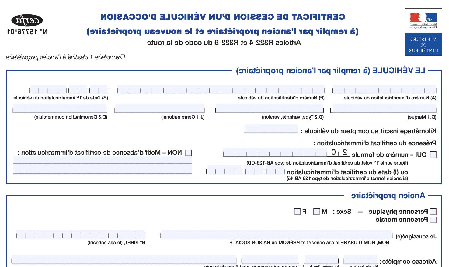Comment envoyer un certificat de transfert de véhicule à la préfecture?