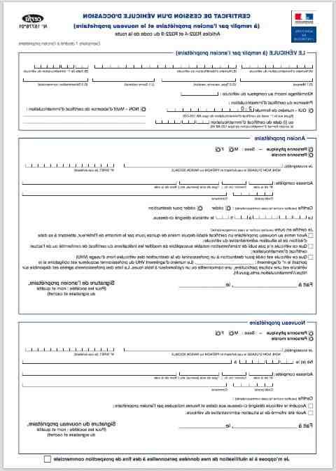 Comment envoyer un certificat de transfert en ligne?