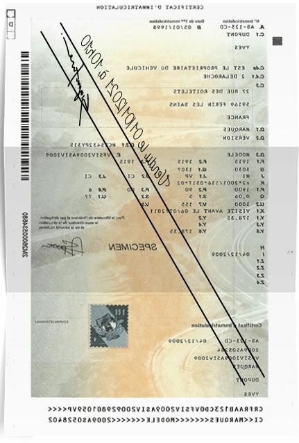 Où envoyer un certificat de transfert de véhicule?