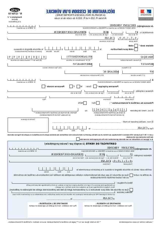 Où puis-je soumettre mon certificat de transfert de véhicule?