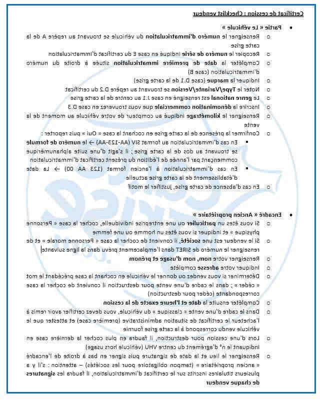 Qui doit remettre le certificat de transfert à la préfecture?